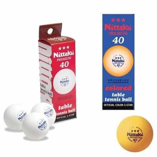 Nittaku Premium 3-Star 40mm Ball (Box of 3) Orange