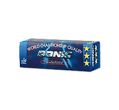 Donic 3 Star ITTF Approved 40mm Balls Box of 3 (Orange)