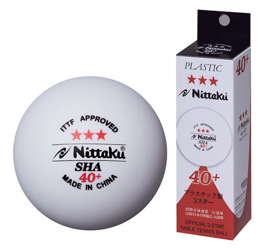 Nittaku 3 Star SHA 40+ Box of 3
