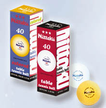 Nittaku Japan 3 Star 40mm Balls Box of 3 (White)